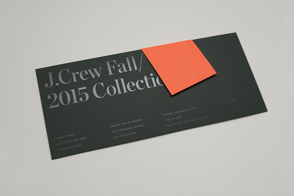 J.Crew Fall/Winter 2015 Invitation