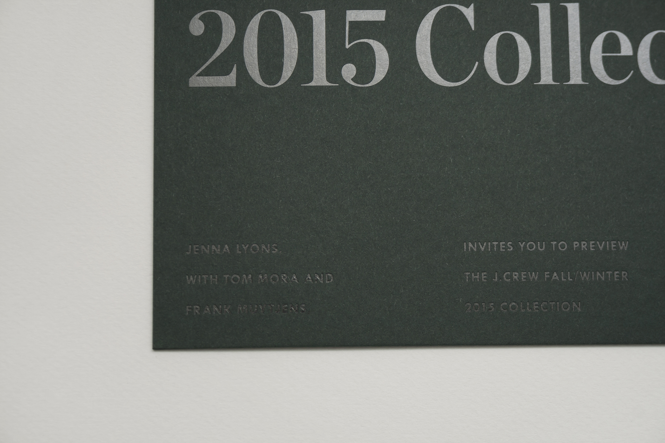 J.Crew Fall/Winter 2015 Invitation